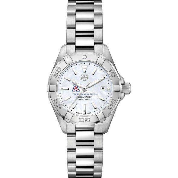 University of Arizona Women's TAG Heuer Steel Aquaracer w MOP Dial - Image 2