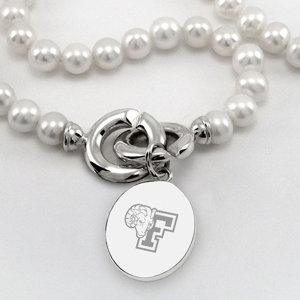 Fordham Pearl Necklace with Sterling Silver Charm - Image 2