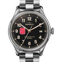 NC State Shinola Watch, The Vinton 38mm Black Dial