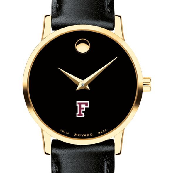 Fordham Women's Movado Gold Museum Classic Leather