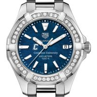 Creighton Women's TAG Heuer 35mm Steel Aquaracer with Blue Dial
