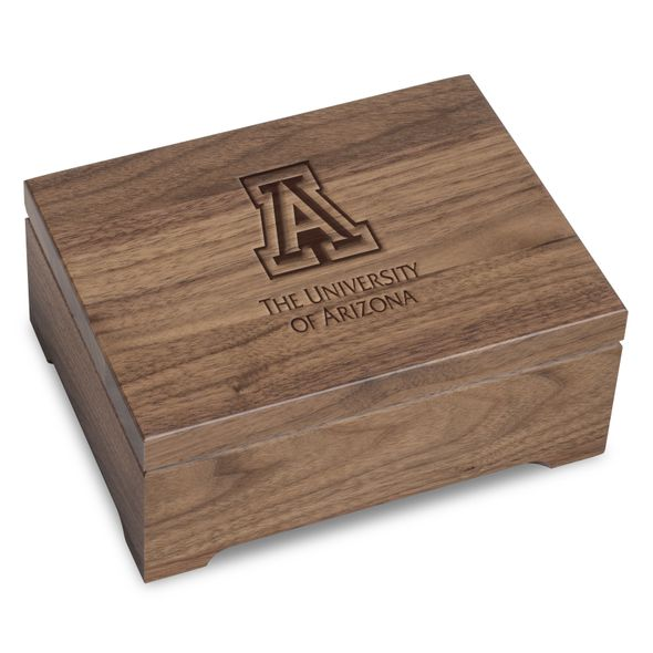 University of Arizona Solid Walnut Desk Box - Image 1