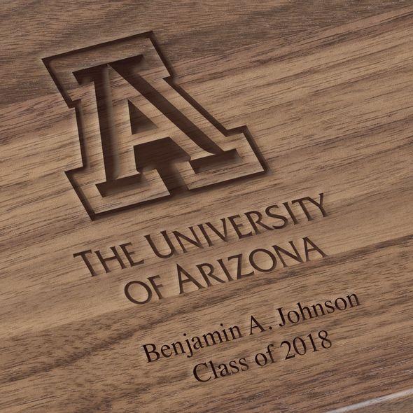University of Arizona Solid Walnut Desk Box - Image 3