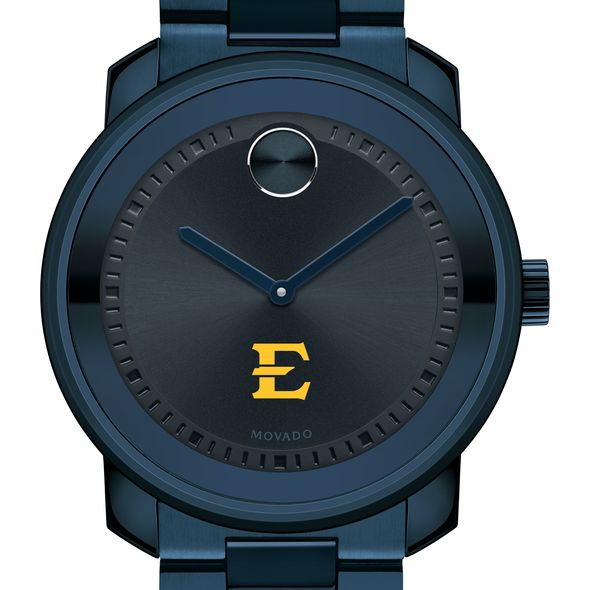 East Tennessee State University Men's Movado BOLD Blue Ion with Bracelet