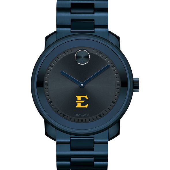 East Tennessee State University Men's Movado BOLD Blue Ion with Bracelet - Image 2
