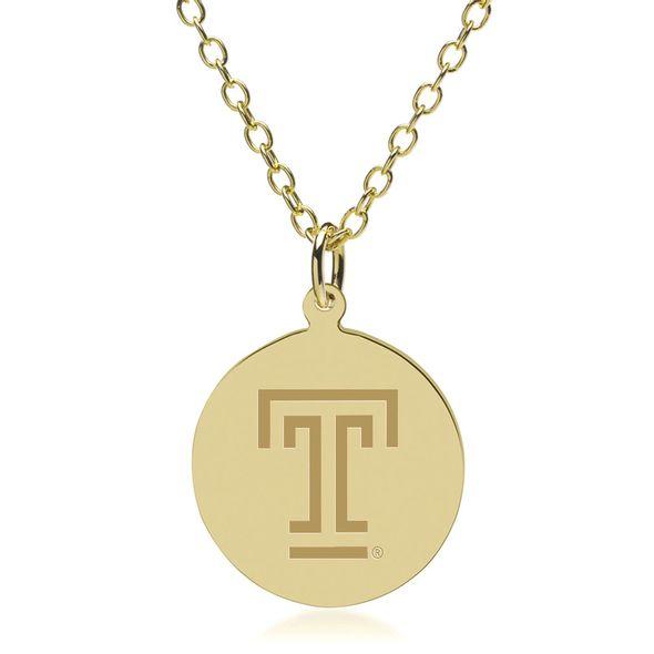 Temple 18K Gold Pendant & Chain