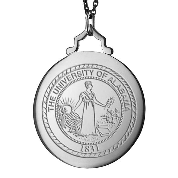 Alabama Monica Rich Kosann Round Charm in Silver with Stone - Image 2