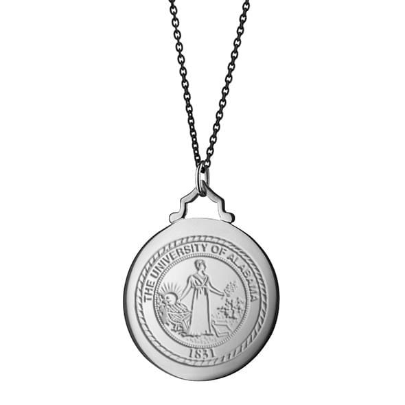 Alabama Monica Rich Kosann Round Charm in Silver with Stone - Image 3