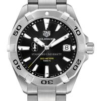 Stanford University Men's TAG Heuer Steel Aquaracer with Black Dial