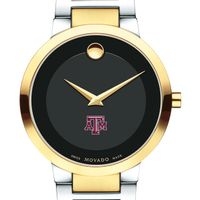 Texas A&M University Men's Movado Two-Tone Modern Classic Museum with Bracelet