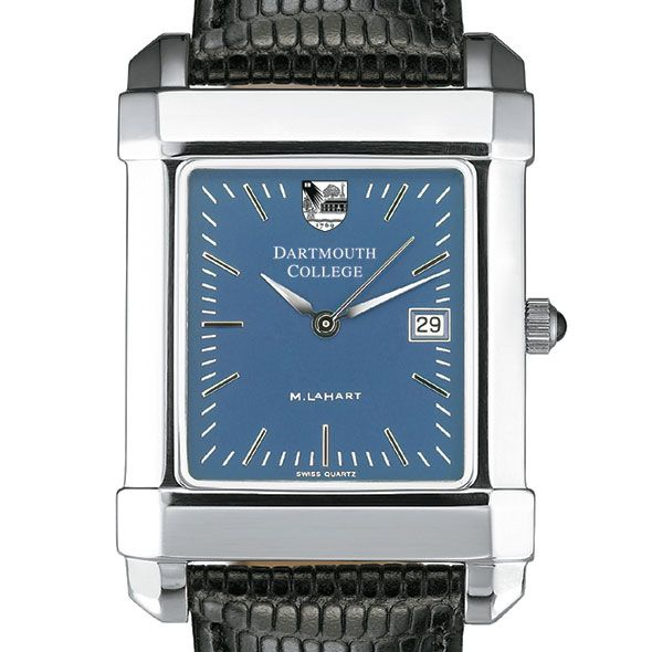 Dartmouth Men's Blue Quad Watch with Leather Strap