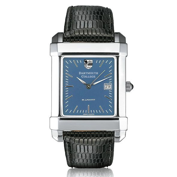 Dartmouth Men's Blue Quad Watch with Leather Strap - Image 2