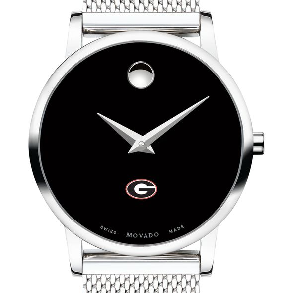 University of Georgia Women's Movado Museum with Mesh Bracelet