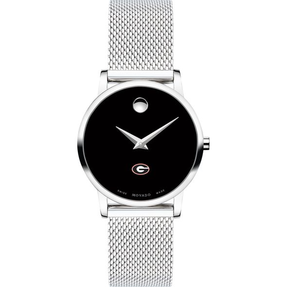 University of Georgia Women's Movado Museum with Mesh Bracelet - Image 2