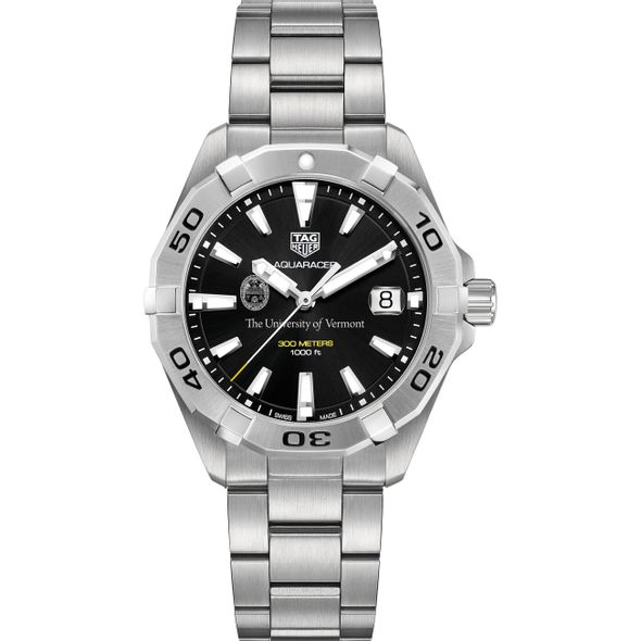 University of Vermont Men's TAG Heuer Steel Aquaracer with Black Dial - Image 2