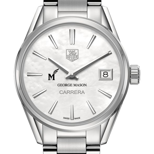 George Mason University Women's TAG Heuer Steel Carrera with MOP Dial