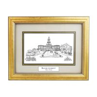 Baylor Black Ink Gold Frame