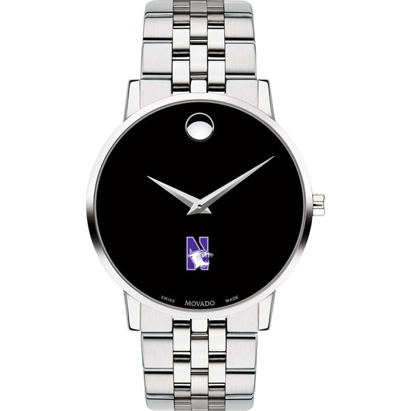 Northwestern University Men's Movado Museum with Bracelet - Image 2