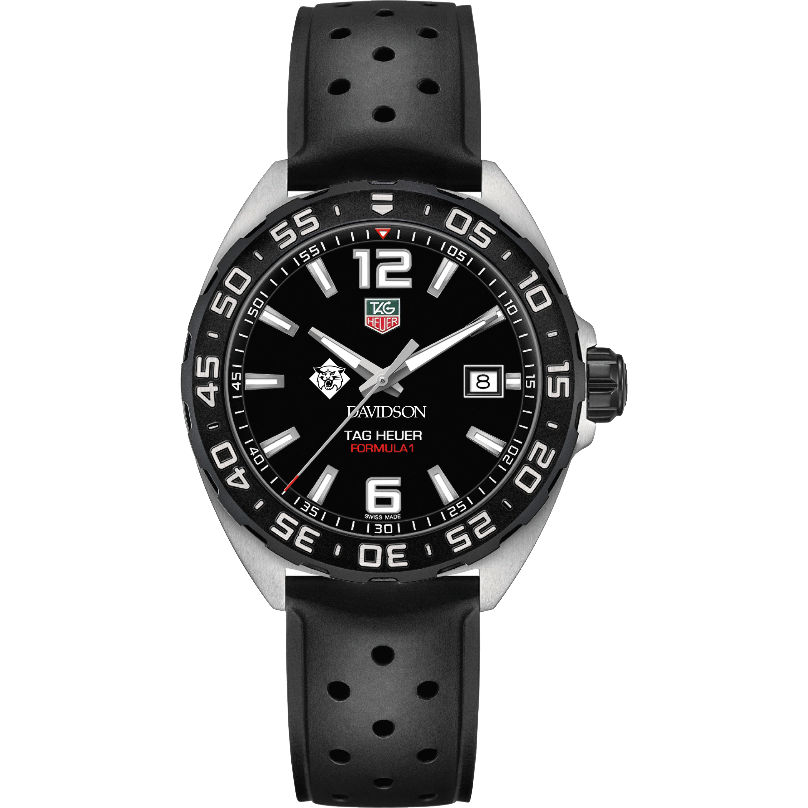 Davidson College Men's TAG Heuer Formula 1 with Black Dial - Image 2