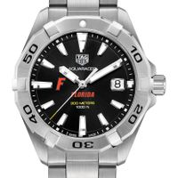 University of Florida Men's TAG Heuer Steel Aquaracer with Black Dial
