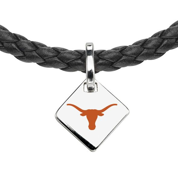 University of Texas Leather Necklace with Sterling Silver Tag - Image 2
