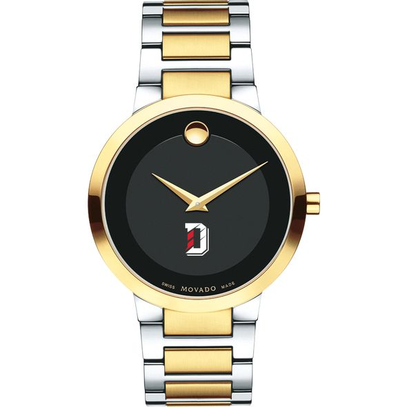 Davidson College Men's Movado Two-Tone Modern Classic Museum with Bracelet - Image 2