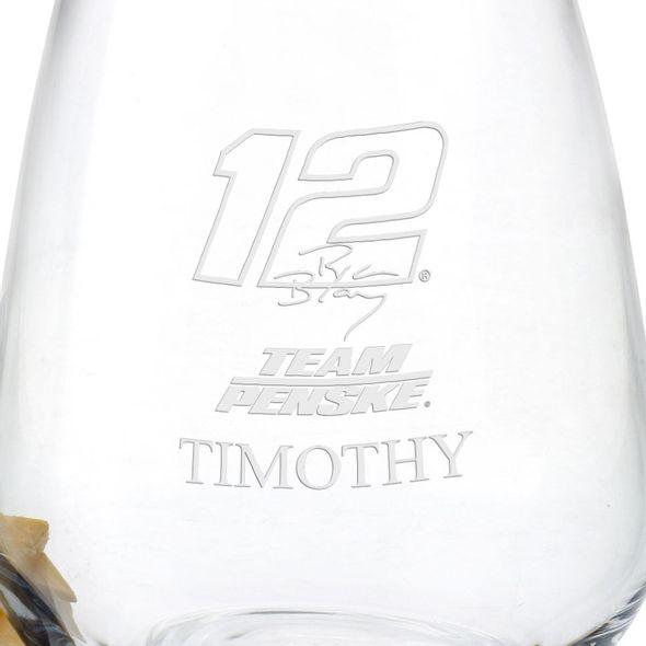 Ryan Blaney Stemless Wine Glass - Image 3