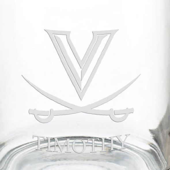 University of Virginia 13 oz Glass Coffee Mug - Image 3