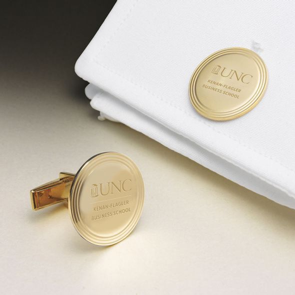 UNC Kenan-Flagler 18K Gold Cufflinks