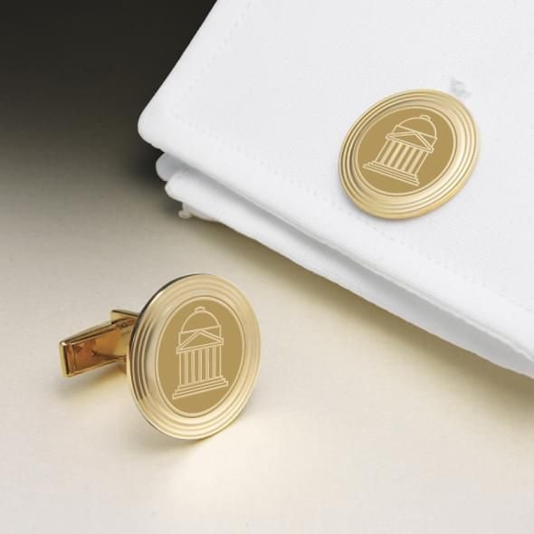 SMU 14K Gold Cufflinks