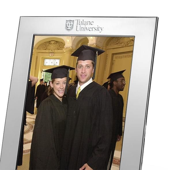 Tulane Polished Pewter 8x10 Picture Frame - Image 2