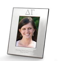 Delta Gamma Polished Pewter 4x6 Picture Frame