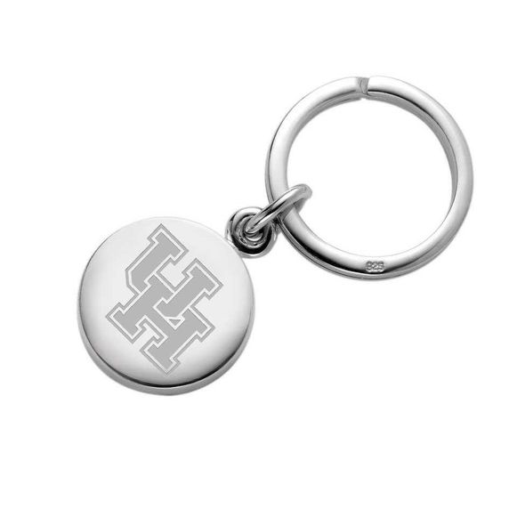 Houston Sterling Silver Insignia Key Ring - Image 1