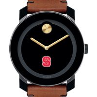 North Carolina State Men's Movado BOLD with Brown Leather Strap