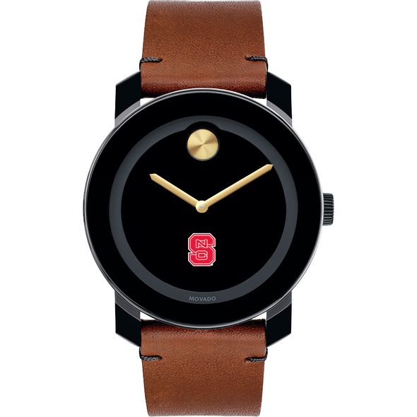 North Carolina State Men's Movado BOLD with Brown Leather Strap - Image 2