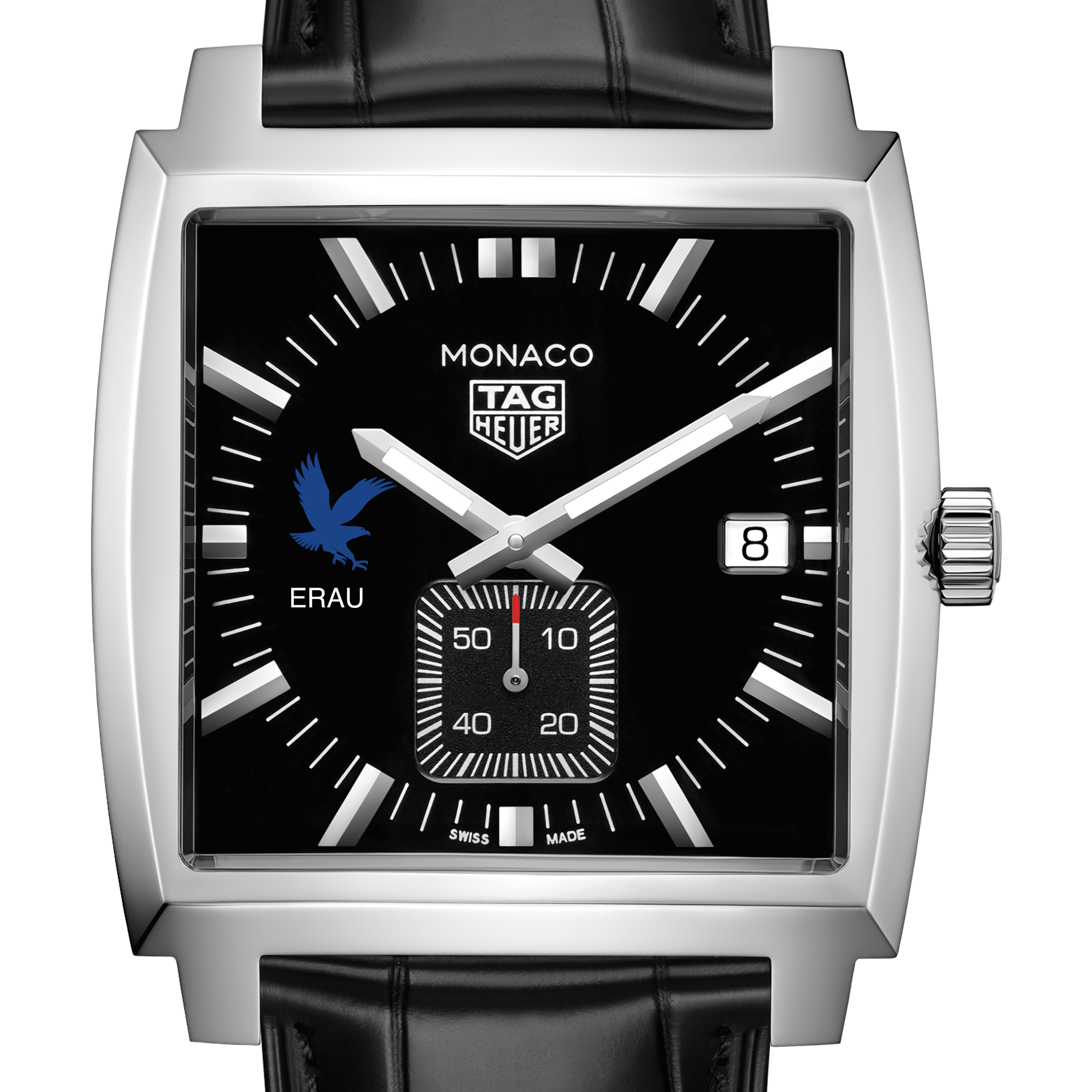 Embry-Riddle TAG Heuer Monaco with Quartz Movement for Men