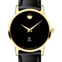 University of Virginia Women's Movado Gold Museum Classic Leather
