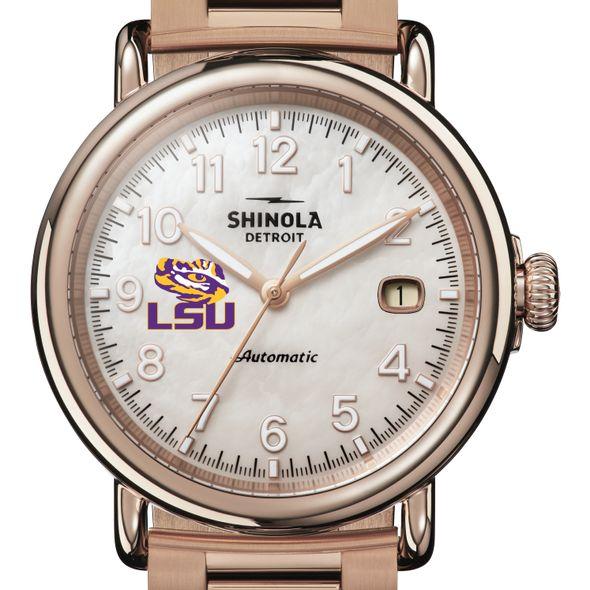 LSU Shinola Watch, The Runwell Automatic 39.5mm MOP Dial - Image 1