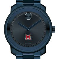 Miami University Men's Movado BOLD Blue Ion with Bracelet