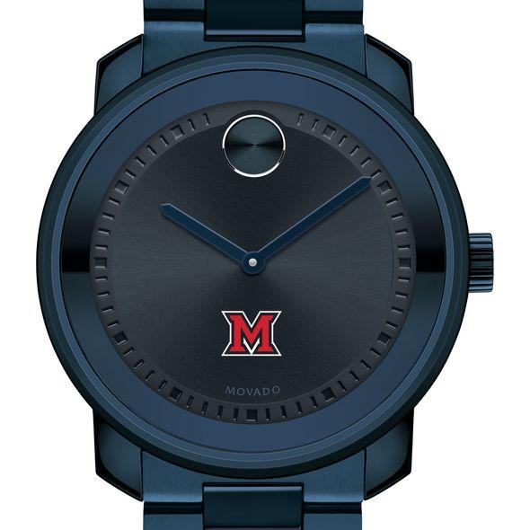Miami University Men's Movado BOLD Blue Ion with Bracelet