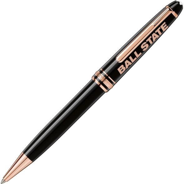 Ball State Montblanc Meisterstück Classique Ballpoint Pen in Red Gold - Image 1
