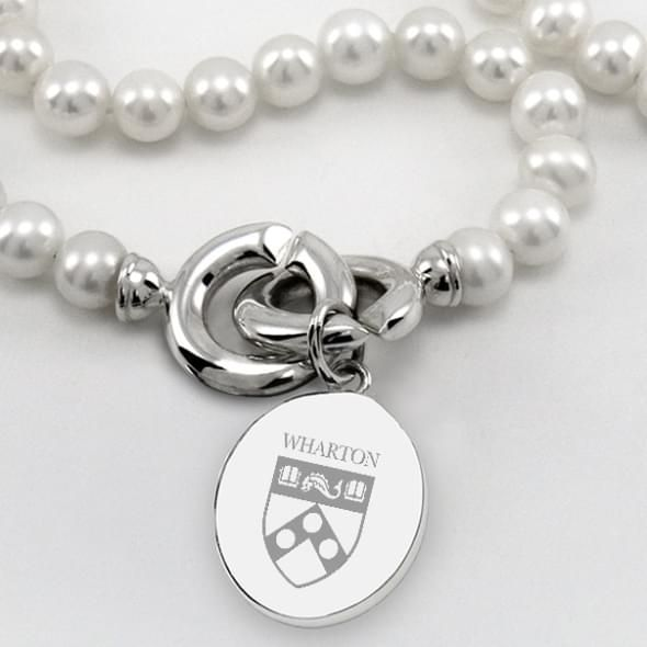 Wharton Pearl Necklace with Sterling Silver Charm - Image 2