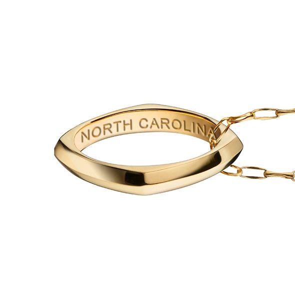 University of North Carolina Monica Rich Kosann Poesy Ring Necklace in Gold - Image 3