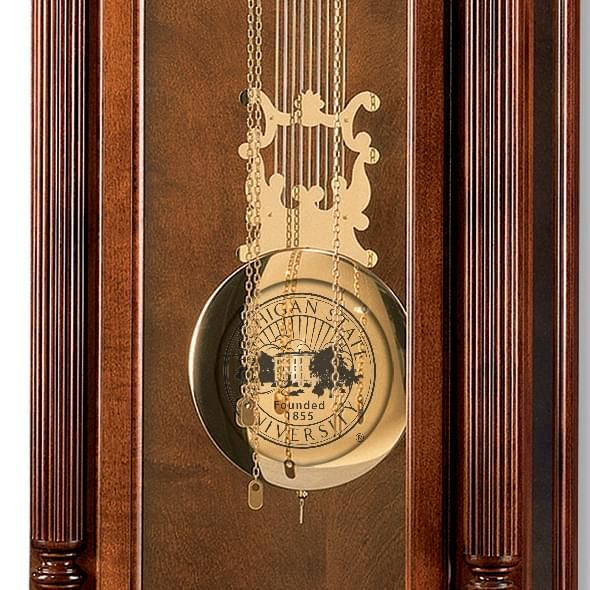 Michigan State Howard Miller Grandfather Clock - Image 2