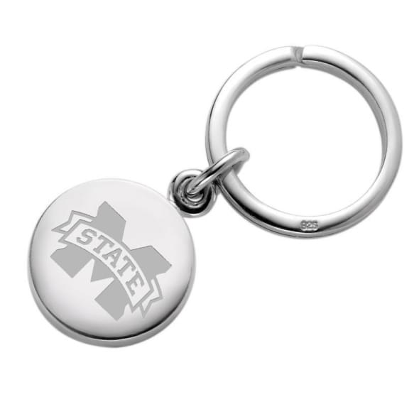 Mississippi State Sterling Silver Insignia Key Ring