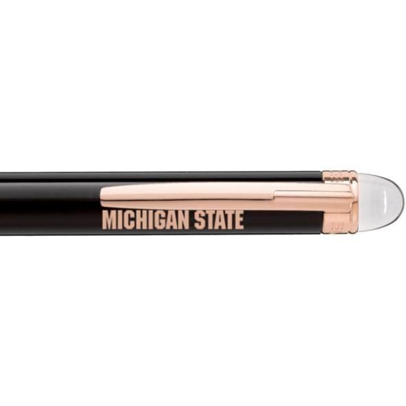 Michigan State University Montblanc StarWalker Ballpoint Pen in Red Gold - Image 2