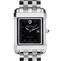 Holy Cross Men's Black Quad Watch with Bracelet