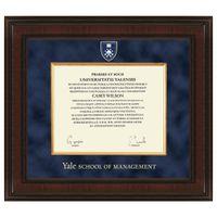 Yale SOM Diploma Frame - Excelsior