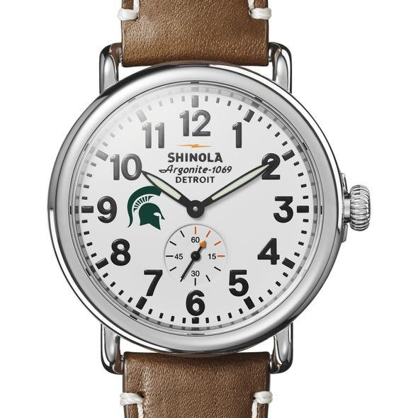 Michigan State Shinola Watch, The Runwell 41mm White Dial