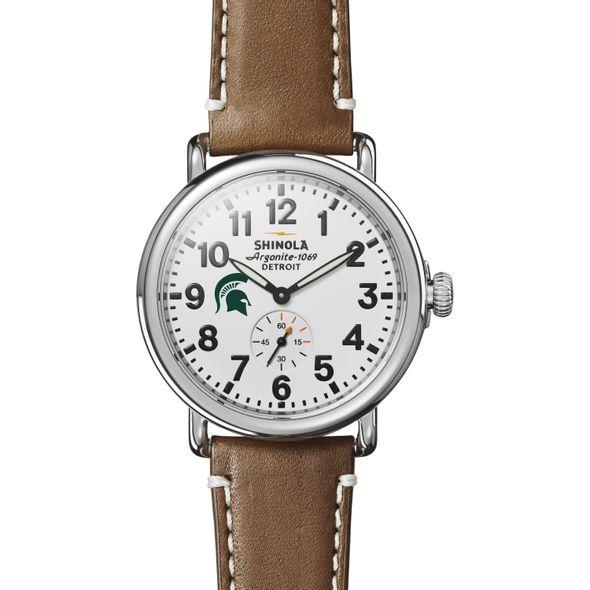Michigan State Shinola Watch, The Runwell 41mm White Dial - Image 2